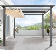 Turn a patio into a pavilion with a freestanding German-made pergola you assemble yourself (retractable canopy included):