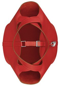 Hermes - Picotin bag in red. Overhead top view.