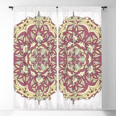 Vintage mandala pattern Blackout Curtain Blackout Windows, Blackout Curtains, Window Curtains, Mandala Pattern, Curtain Rods, Throw Pillows, Vintage, Toss Pillows, Cushions