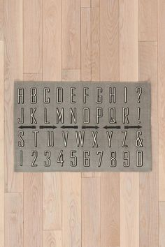 Alphabet Rug #urbanoutfitters