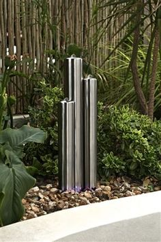 Stainless Steel 3 Tube Water Feature