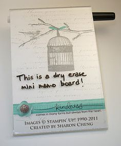 Mini Dry Erase Board.  Free downloadable image with instructions.