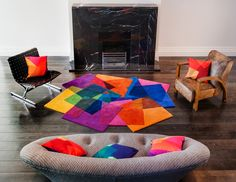 Forget about the winter blues with this amazing collection of rugs and cushions from Sonya Winner they are just what you need to brighten up your home this season.