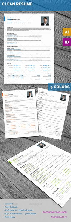 Professional Resume Template and Cover Letter Template for Word - unique resume templates