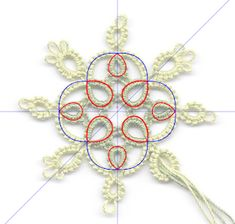 """Tatting by the Bay: Drawing """"Automatic"""" Pattern Repeats (Part Darker Shades Of Grey, Photo Layers, Small Rings, Bookmarks, Repeat, Tatting, Crochet Necklace, Chain, Drawings"""