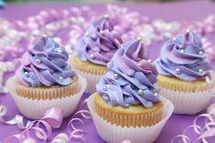 Pretty purple cupcakes