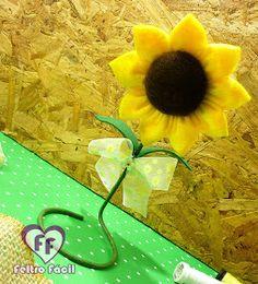 Sunflower felt, girassol de feltro, feltro, artesanato em feltro, flower felt, molde de girassol, moldes em feltro, moldes para artesanato, craft diy, craft handmade, handmade