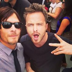 Breaking bad and walking dead. Amc's best shows! Aaron Paul and Norman reedus!!! My 2 favourite people in the shows!
