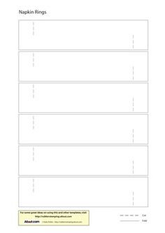 Massif image throughout printable napkin rings template