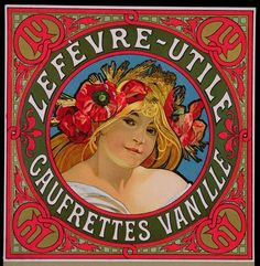 Poster advertising 'Lefevre-Utile Gauffrettes Vanille', 1897, Mucha, Alphonse Marie