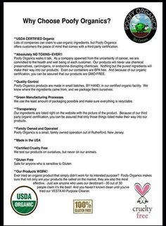 Why choose Poofy Organics? Here is why!  www.poofyorganics.com/poofyorganicsbyamandahunt