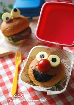 Elmo and Cookie Monster Burger