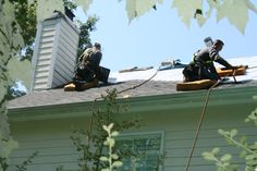 Durham Roofing | A CRS crew installing a CertainTeed Landmark architectural shingle in Moire Black on a home in Durham, NC.