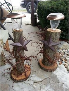 Do you happen to have some spare logs or there is a fallen tree trunk in your place? If yes then utilize it in a creative way and make something with