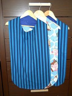 Adult Bib Pattern: Sew With Aloha: Adult Bibs. I know a lady that used to do something like this for patients in nursing homes. Sewing Hacks, Sewing Tutorials, Sewing Patterns, Sewing Ideas, Sewing Tips, Craft Patterns, Apron Patterns, Sewing Lessons, Sewing Stitches