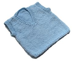 Blue Vest Baby Boy Clothing Hand Knit by knitwhats on Etsy A cute hand knit baby vneck vest. A beautiful shade of baby blue!   A perfect addition for baby's wardrobe. Wear as a layering piece in the cool spring weather. Such a little man look! So soft and ribbed at the bottom and arm sleeves so it will keep its shape.  Size: 12 months