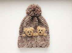 Winter Hat for Girls Knit Hat Kids Hat Pom Pom Hat Winter Outfit Infant Hat Earflap Hat Purple Hat Cute Girls Hat Knit Beanie Angela Baby Knitting, Crochet Baby, Knit Crochet, Knitting Patterns, Crochet Patterns, Hat Patterns, Knitted Hats Kids, Animal Hats, Girl With Hat
