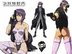 /a/ - Anime & Manga Manga Characters, Female Characters, Western Anime, Character Art, Character Design, Masamune Shirow, Motoko Kusanagi, Ghost In The Shell, Anime Costumes