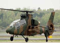 """The Kawasaki OH-1 (nickname: """"Ninja"""") is a light military reconnaissance helicopter for the Japan Ground Self-Defense Force, intended to replace the OH-6 Loach. As of March 31, 2009, 28 have entered service so far, complementing the existing fleet of 111 OH-6s"""