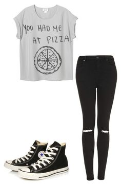 """Untitled #67"" by lexielou211 ❤ liked on Polyvore featuring Topshop and Converse"