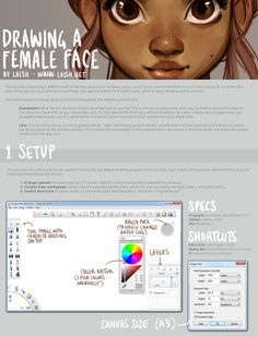 How to Draw Female Face by Loish Lois van baarle is a dutch artist. Currently loish is a freelance i Sketchbook App, Autodesk Sketchbook Tutorial, Sketches Tutorial, Digital Painting Tutorials, Digital Art Tutorial, Art Tutorials, Drawing Tutorials, Tips And Tricks, Figure Drawing Tutorial