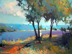 Lavender Vista by Trisha Adams Oil ~ 30 x 40