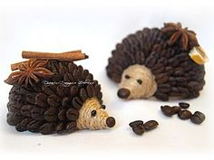 Ohhhhhhh too cute! Fragrant hedgehogs of coffee beans. Master Class, Coffee Bean Art, Coffee Beans, Coffee Grain, Crafts For Kids, Diy Crafts, Styrofoam Ball, Free To Use Images, Great Hobbies