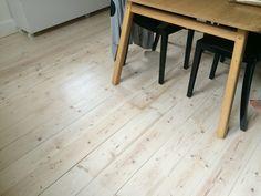 Half White lime on old Baltic pine floor with matt finish.