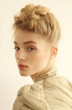 Idée- cheveux: look rock pour le temps des Fêtes.