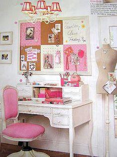 Escritorio combinación rosa