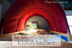 Good Snap Shots Best Free of Charge Ikea Hack - Kura Bettzelt Makeover Style Billig, Kleinkind. Thoughts Best Free of Charge Ikea Hack – Kura Bettzelt Makeover Style Billig, Kleinkind-freundlich und e Kura Bed, Bedroom Red, Kids Bedroom, Ikea Hacks, Bunk Bed Tent, Bunk Beds, Pirate Bedding, Brothers Room, Deco Kids