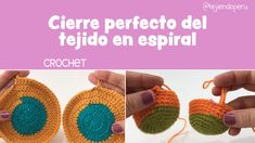Acabado perfecto al terminar de tejer en espiral a crochet - Water Balloons - Ideas of Water Balloons Loom Knitting, Knitting Stitches, Free Knitting, Knitting Patterns, Crochet Patterns, Knitting Ideas, Love Crochet, Diy Crochet, Single Crochet
