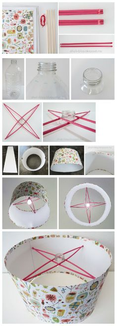 Pretty creative DIY handmade lampshade tutorials