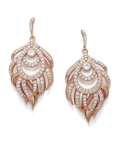 For chandelier earrings or shoulder dusters, consider the Emelia e gold earrings. This pair has facets and pave crystal details hanging from the long strands.