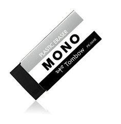 Tombow MONO Dirt-resistant Body Black Eraser- Pack of 2. by niconecozakkaya on Etsy
