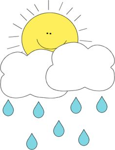 Sun Behind Rain Cloud Clip Art - Sun Behind Rain Cloud Image Sun And Clouds, Rain Clouds, Cartoon Drawings, Easy Drawings, Weather For Kids, Rain Crafts, Cloud Craft, Learn To Sketch, Cloud Drawing