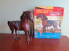 Vintage 1967 Fort Apache Fighters COMANCHE Horse w/ Original Box by Marx Toys #Marx
