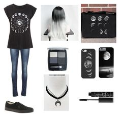 """""""Moon"""" by tva-lpz ❤ liked on Polyvore featuring Crawlspace Studios, Casetify, Kaporal, Vans, Isadora and NARS Cosmetics"""