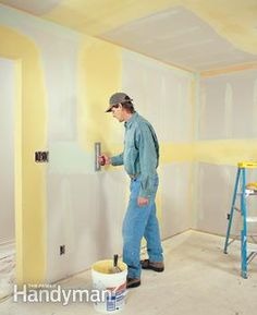 Save yourself $100s by taping your own walls. We'll show you how. This article shows you everything you need to get perfectly smooth walls, without having to worry about nail pops, cracks and bad joints later. We take a beginner DIY approach, so even if you've never used drywall tools before, you can get good results on your walls.