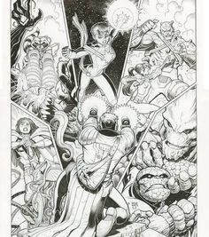 The cover to Guardians of the Galaxy # 13 by Art Adams.