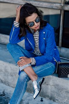 BIKER jacket | silver shoes | street style | fashion blogger | viva luxury blog