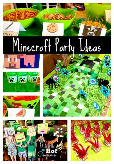 My sister just recently put together a stunning Minecraft Themed Birthday party for her son.  It gave me the inspiration for this post.  Many of these ideas are achievable using squares, a bit of i…