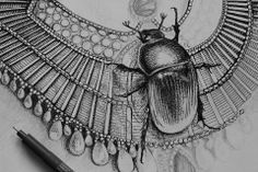 egyptian necklace /w scarab for an upcoming poster