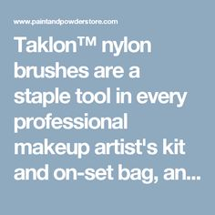 Taklon™ nylon brushes are a staple tool in every professional makeup artist's kit and on-set bag, and a must for anyone applying cream based makeup products for a more precise finish.  This #10 Oval is the most versatile and efficient brush size you will frequently use with all kinds of wet cosmetic applications, as it consistently holds it's shape as you move product around.    This is very important when you need to use less pressure in your movement to achieve very thin, skin-like results…