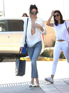 Out shopping at Barney's New York in Los Angeles with a friend.   - ELLE.com