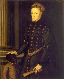 Hoge Europese adel speelt 'Moor', 'Ethiopiër', Afrikaan of Afrikaans werelddeel