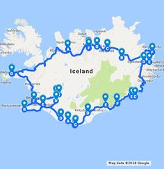 Here's the route I took on the Ring Road. To read more about the trip visit: www.travelingspud.com