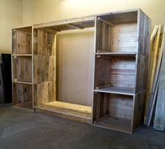 Build a Dressing Room with Pallets for Free | 99 Pallets
