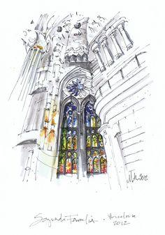 Really like the selective coloring  Sagrada Familia, Barcelona  Michelle Morelan