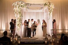 Venue, The Pierre Hotel; Floral and Event Design, DeJuan Stroud; Planner, State of the Art Enterprises; Photo: Ira Lippke Studios - New York Wedding http://caratsandcake.com/JennaandEric